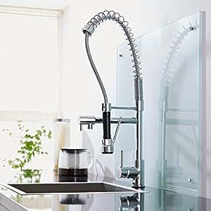 robinet mitigeur de cuisine avec douchette design bricolage