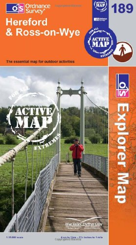 Hereford and Ross-on-Wye (OS Explorer Map Active)