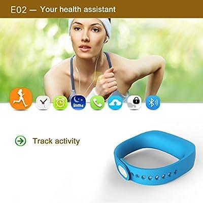 Forestfish(TM) Bluetooth Smart Bracelet Sports Fitness Tracker Smart Wristband Activity + Sleep Monitor Water Resistant Tracker Bracelet Sleep Monitoring Anti-lost Smart Watch