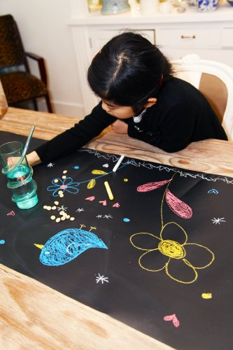 Reusable-Chalk-Board-Table-Runner-for-Parties-Entertaining-Drawing-Comes-w-Dustless-Chalk-and-Chalk-Holder
