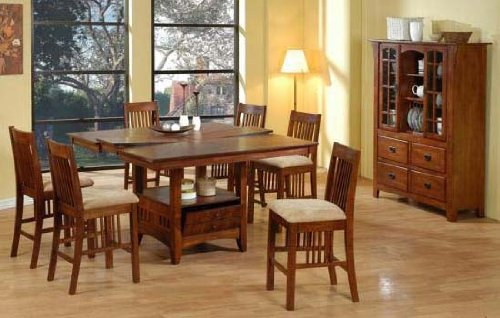 Sunrise Home Furnishings Huntington 5-Piece Pub Table Dining Set (With Optional China Cabinet)