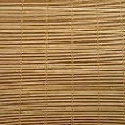 Woven Wood Roman Shades, 48W x 40H, Montauk Camel