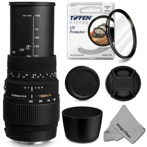 Sigma 70-300Mm F/4-5.6 Dg Macro Telephoto Zoom Lens For Canon Eos Rebel T5I T4I T3I T2I T1I Xt Xti Xsi Sl1 Dslr Cameras