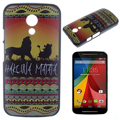 Moto G (2Nd Generation)(Not For Moto G) Case Cover, Gift_Source Hard Shell Back Case Cover For Motorola Moto G (2Nd Generation, 2014)(Not For Motorola Moto G) Case-Lion Hakuna Matata + 1 X Screen Protector And Stylus Pen