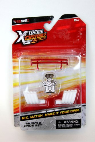 Ridemakerz Xtreme Customz Muscle Race Set Spoiler Engine Set