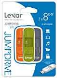 Lexar 8GB JumpDrive S70 USB Flash Drive Memory Stick - Triple Pack
