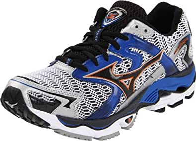 Mizuno Men's Wave Nirvana 8 Running Shoe,White/Anthracite/Indigo Blue,7.5 D US