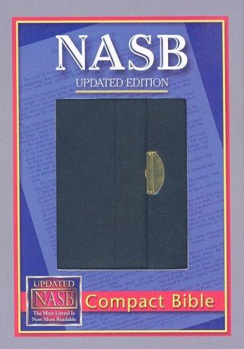 NASB Compact Bible, Black - Snap Flap, BL