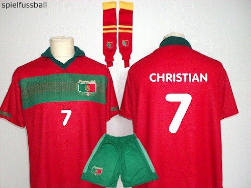 Portugal Trikot + Hose + Stutzen mit Wunschname