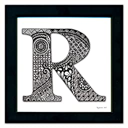 R Monogram Pen & Ink