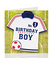 Boys Football Shirt Birthday Card