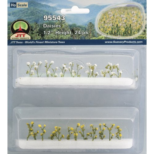 JTT Scenery Products Flowering Plants Daisies HO Scale Hobby Train Sceneries