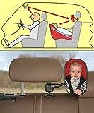 BebiVista Babyschalenspiegel - Rückspiegel  um Babys in Babyschalen oder Reboardern zu beobachten - hochwertiges Sicherheitsglas - optimaler Blickwinkel durch einzigartige solide Befestigung seitlich der Kopfstütze - Made in Germany