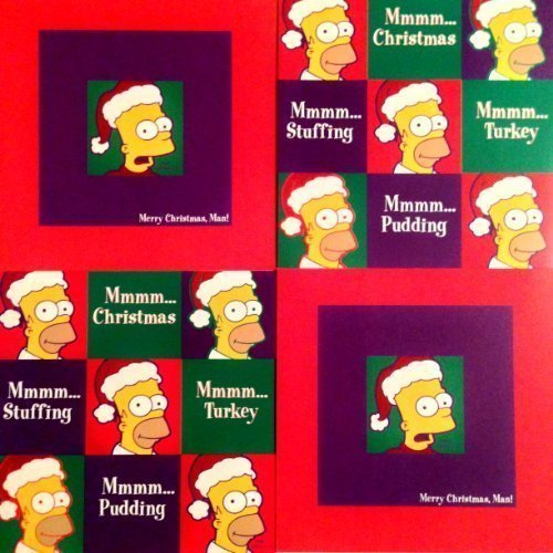 10-the-simpsons-square-christmas-xmas-cards-with-envelopes-2-designs-childrens-kids-teen-cards