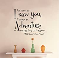 Toprate(TM) As soon as I saw you, I k an adventure was going to happen - Winnie the Pooh - Removeable Wall Decal - 19''H X 23''W from Toprate(TM)