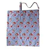 GudeHome Enfermer�a cubierta 100% algod�n - tapa de la lactancia materna - Capa de lactancia - delantal enfermer�a - regalo para las nuevas mam�s + gratis bolsita - Capa de lactancia con hebilla Azul Mantas