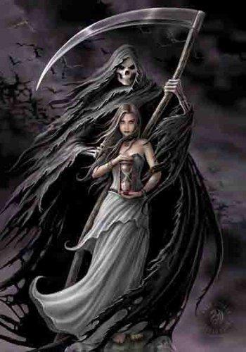 Anne Stokes Bandiera-Summon The Reaper-Bandiera Poster 100% poliestere 75x 110cm