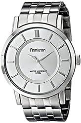 Armitron Men's 20/4962GYDS Dark Silver-Tone Ion-Plated Bracelet Watch
