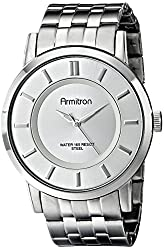 Armitron Men's 20/4962GYDS Dark Silver-Tone Ion-Plated Bracelet Watch