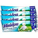 Minidou - Adoucissant en Doses - Bouffée d'air frais - Tripack 250 ml / 30 Lavages - Lot de4