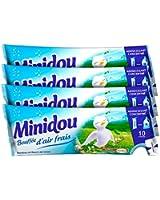 Minidou - Adoucissant en Doses - Bambou et Fleurs de Lotus - Tripack 250 ml / 30 Lavages - Lot de4