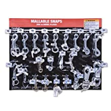 "Campbell DD0720171 67 Piece 15"" x 18.25"" Malleable Snaps Display Assortment"