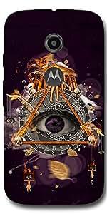 SEI HEI KI Designer Back Cover For Motorola Moto E2 - Multicolor