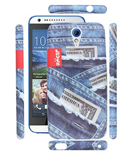FUSON PREMIUM TRIBAL LEVIS BLUE JEANS DESIGNER SILICON BACK CASE COVER FOR HTC DESIRE 620 /620G DUAL - DS34