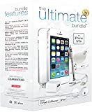 ★ The Ultimate Bundle for iPhone 5/5S ★ - 7 in 1 Accessory Kit - White - Apple MFi-Certified - Gift Packaging Includes: 3ft MFi-Certified Lightning Cable, Wall Charger, Car Charger, 3.5mm Earbuds Headset with Remote and Mic, Clear HD Screen Protector w/ Cleaning Cloth, TPU Case, Stylus