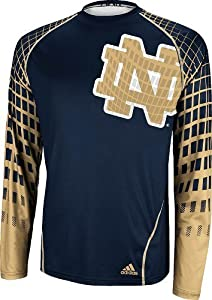 Notre Dame Fighting Irish Adidas 2013 Toxic Long Sleeve Performance Shirt by adidas