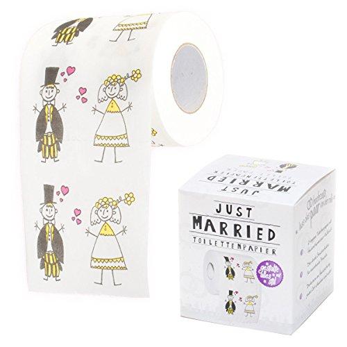 Hochzeit Toilettenpapier Just Married Fun Klopapier bedruckt