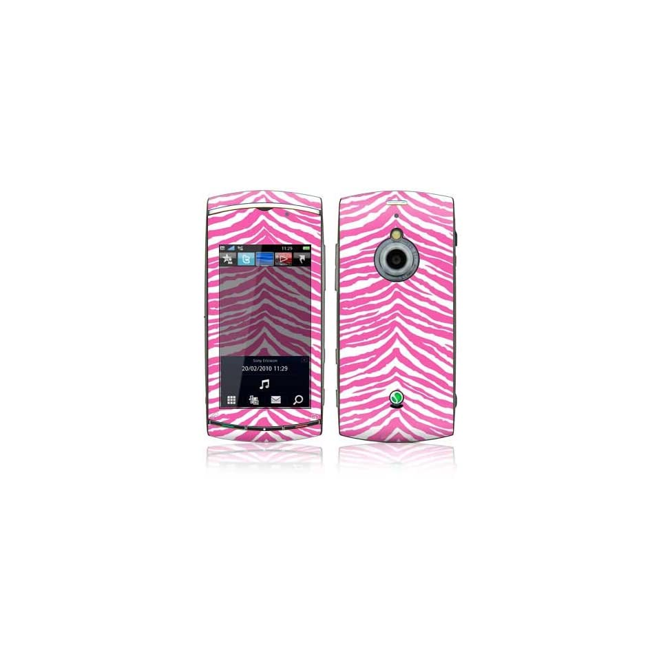 Pink Zebra Design Decorative Skin Decal Sticker for Sony Ericsson Vivaz PRO Cell Phone