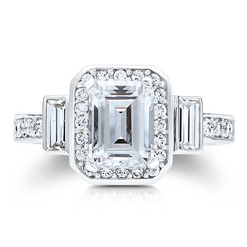 berricle sterling silver emerald cut cubic zirconia cz 3