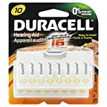 Duracell Batteries, Hearing Aid, Zinc Air, 10, 16 batteries
