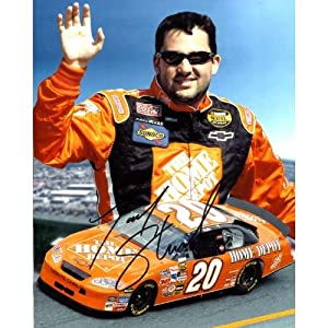 Autographed Tony Stewart Photo - 8x10 - Autographed NASCAR Photos by Sports Memorabilia