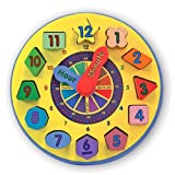 Melissa & Doug Colorful Wooden Shape Sorting Clock