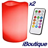 iBoutique Wireless Colour Changing Mood Light Candles x2 With Remote Controlby Express