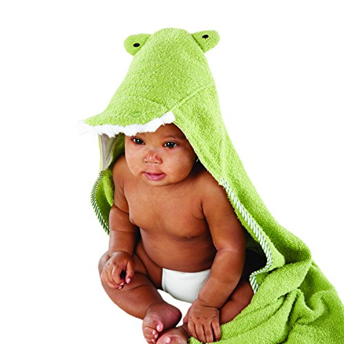 Crocodile Hooded Spa-Towel, Green