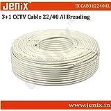 Jenix CCTV WIRE CABLE 3+1 Copper+Breding Alloy+mic Wire Copper- 90 METER (100 YARDS)