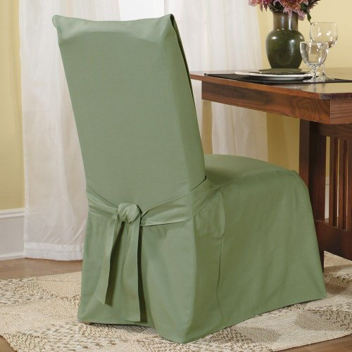 Sure Fit Cotton Duck Full Dining Room Chair Cover, Sage front-969266
