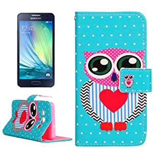 Crazy4Gadget Owl Pattern Horizontal Flip Leather Case with Holder & Card Slots & Wallet for Samsung Galaxy A3 / A300F