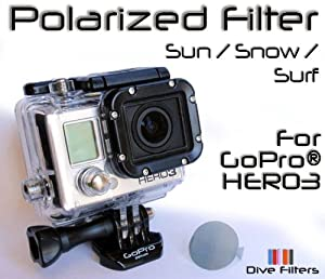 GoPro HERO3 Polarizer Filter - Polarized Filter Sun, Snow, Surf