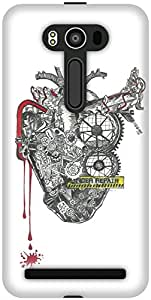 The Racoon Grip printed designer hard back mobile phone case cover for Asus Zenfone 2 Laser ZE550KL. (The Machin)