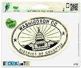 Washington DC Travel Vinyl Car Bumper Window Sticker