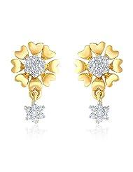 Mahi Gold Plated Enchant Gleam Earrings With CZ For Women ER1191553G
