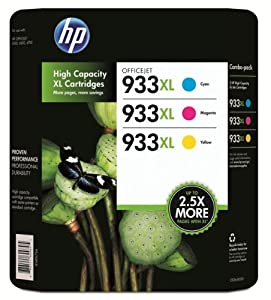 HP 933XL High Yield Officejet Ink Cartridges (Cyan / Magenta / Yellow) (CR316BN)