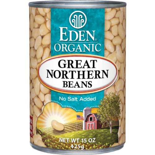 Eden Organic Great Northern Beans, No Salt Added, 15-Ounce Cans (Pack of 12)