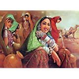"Dolls Of India ""Beauties From Rajasthan"" Reprint On Paper - Unframed (41.91 X 31.75 Centimeters)"