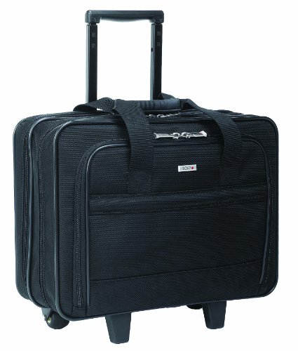 SOLO Classic Collection Rolling Overnighter Case Accommodates up to 15.6 Inch Laptop, Black (B100)