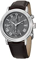 Raymond Weil Maestro Grey Dial Chronograph Brown Leather Mens Watch 7737-STC-00609